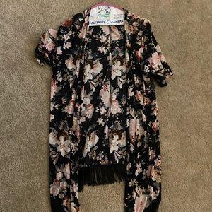 Size medium floral cardigan